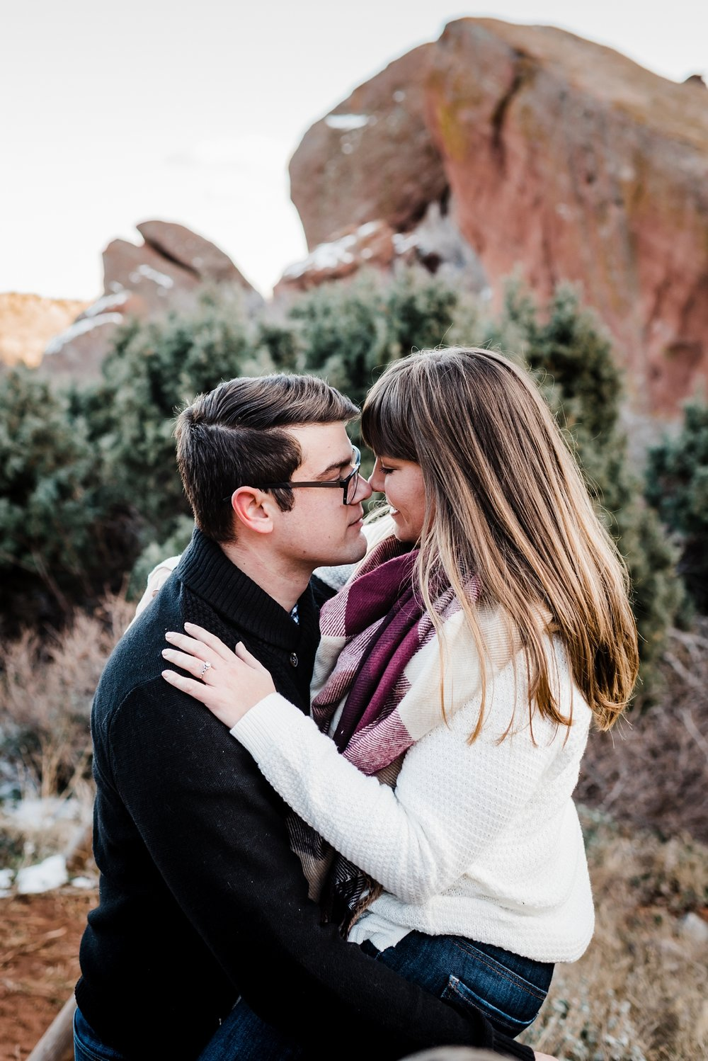 eskimo-kisses, red-rocks-engagement-session, denver-colorado-wedding-photographer