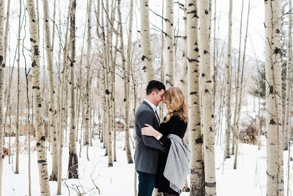 romantic-winter-engagement, colorado-wedding-photographer