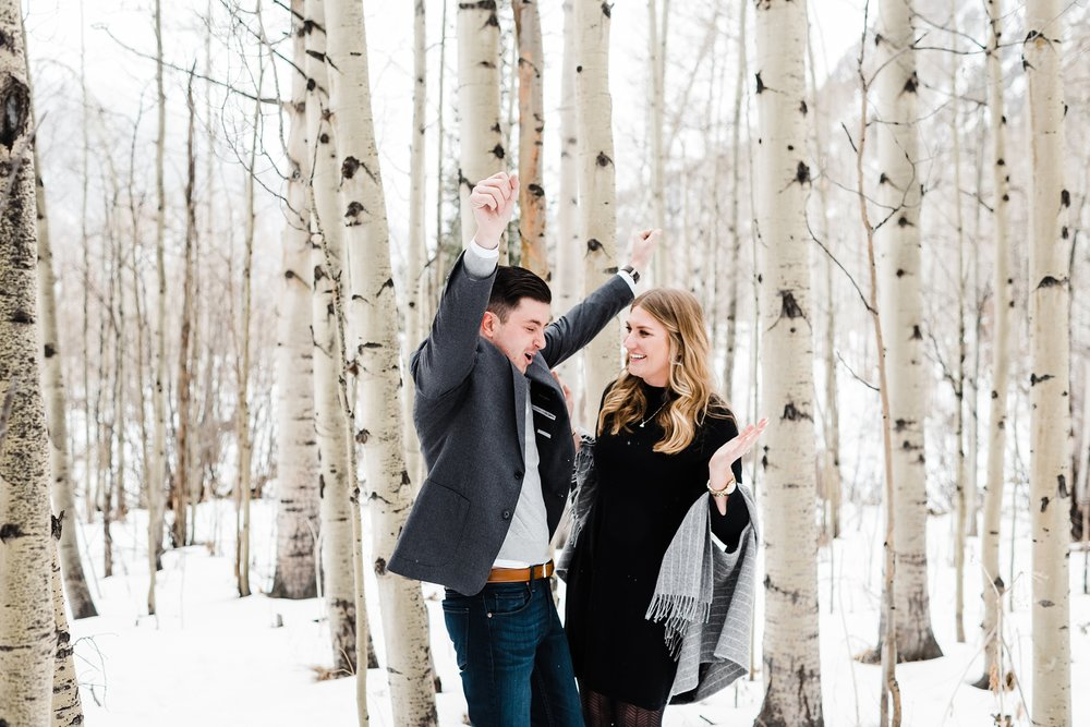 pure-excitement, snowy-engagement-session, colorado-wedding-photgrapher