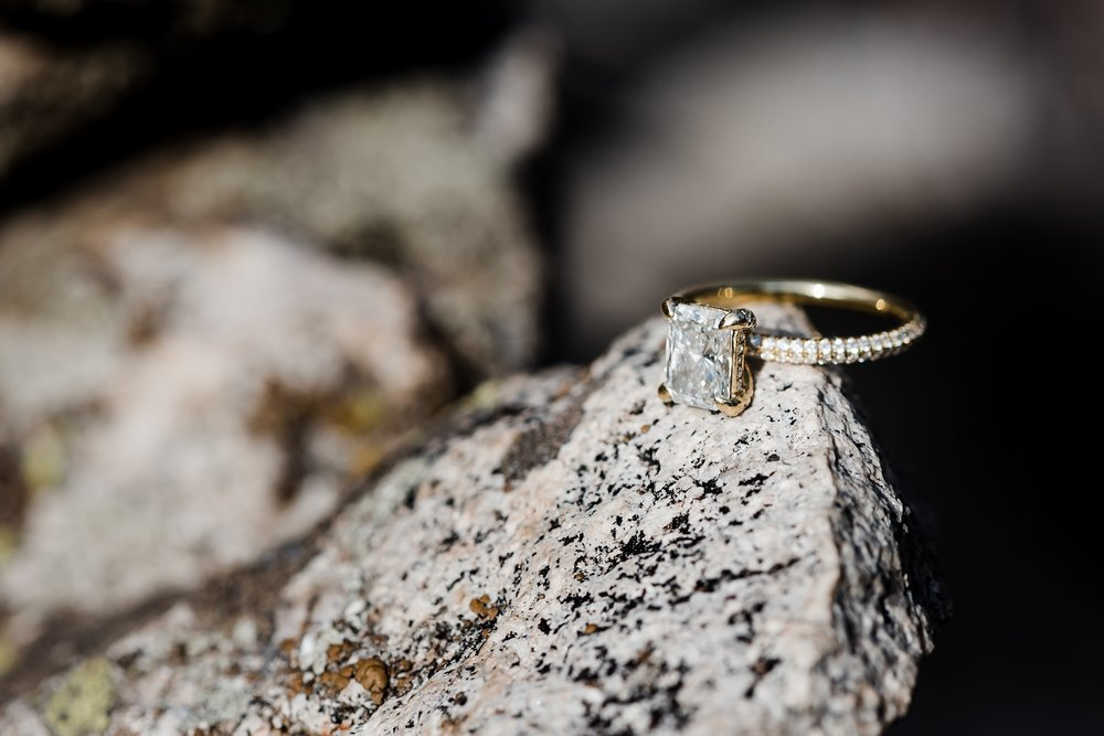 emerald-gold-engagement-ring, denver-wedding-photographer