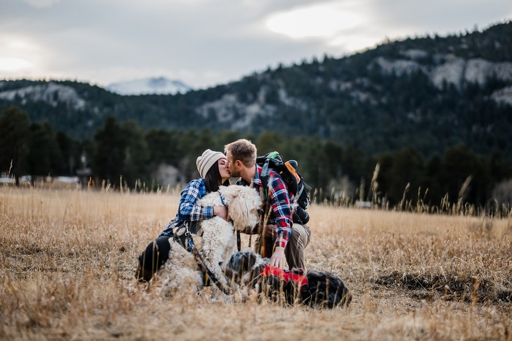 engagement-session-with-dogs, engagement-ring, denver-colorado-wedding-photographer
