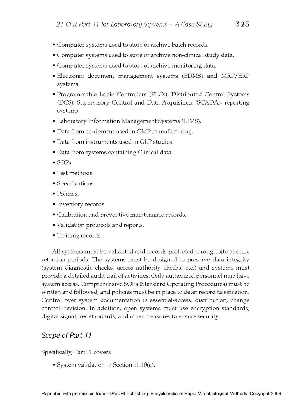 21 CFR Part 11 - Case Study Published in the Encyclopedia of Rapid Microbiological Methods - Volume 1, DHI Publishing_Page_03.png