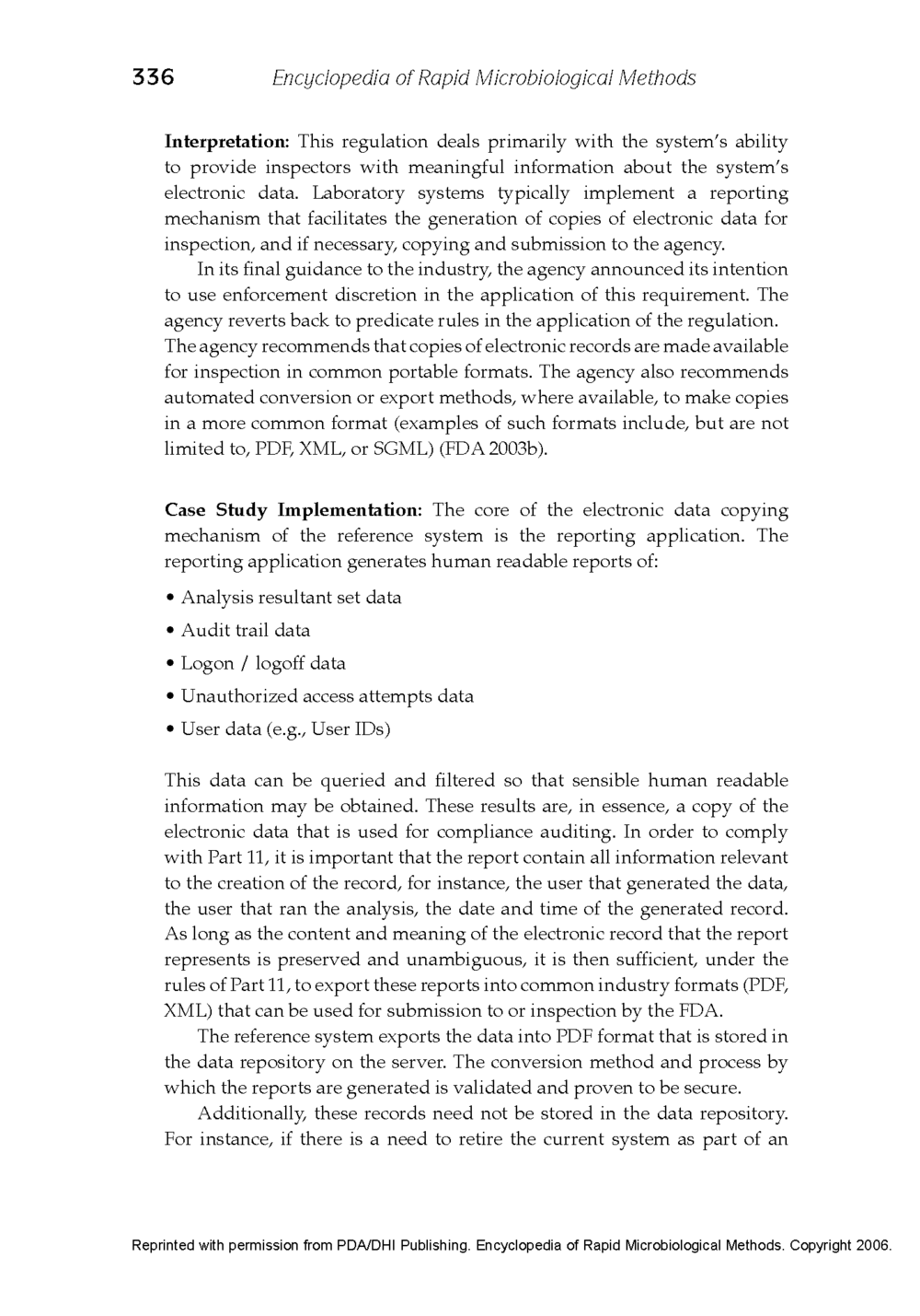 21 CFR Part 11 - Case Study Published in the Encyclopedia of Rapid Microbiological Methods - Volume 1, DHI Publishing_Page_14.png