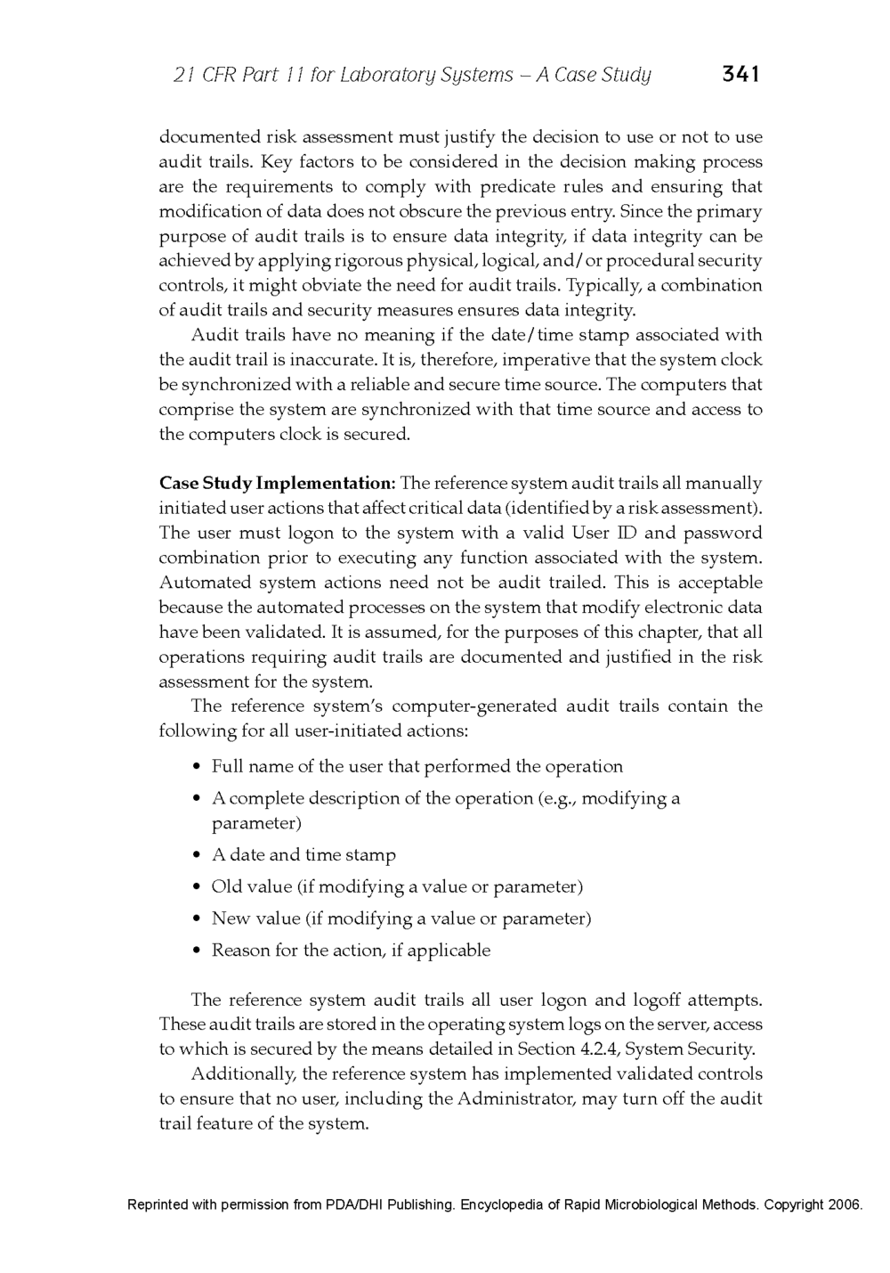 21 CFR Part 11 - Case Study Published in the Encyclopedia of Rapid Microbiological Methods - Volume 1, DHI Publishing_Page_19.png