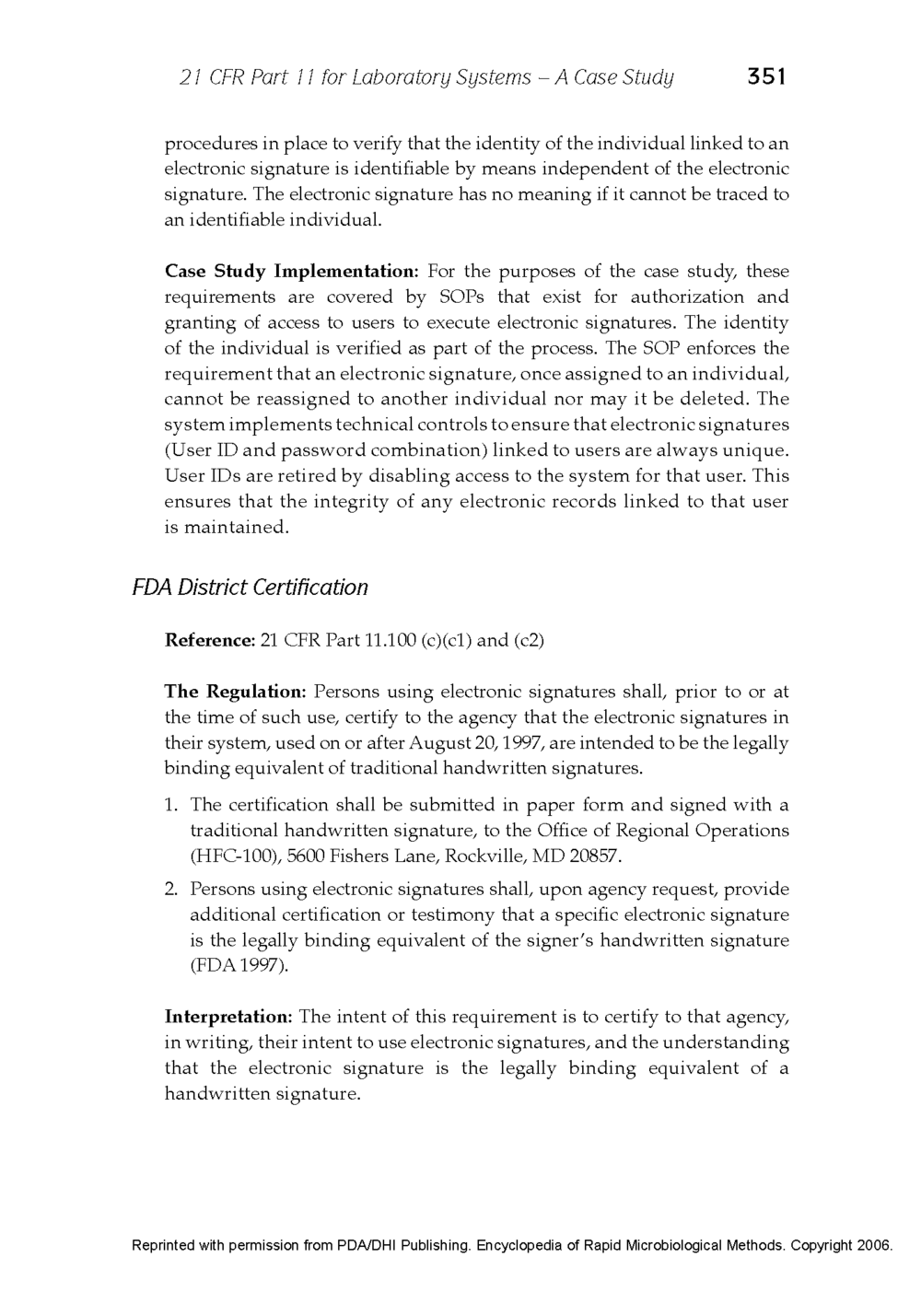 21 CFR Part 11 - Case Study Published in the Encyclopedia of Rapid Microbiological Methods - Volume 1, DHI Publishing_Page_29.png