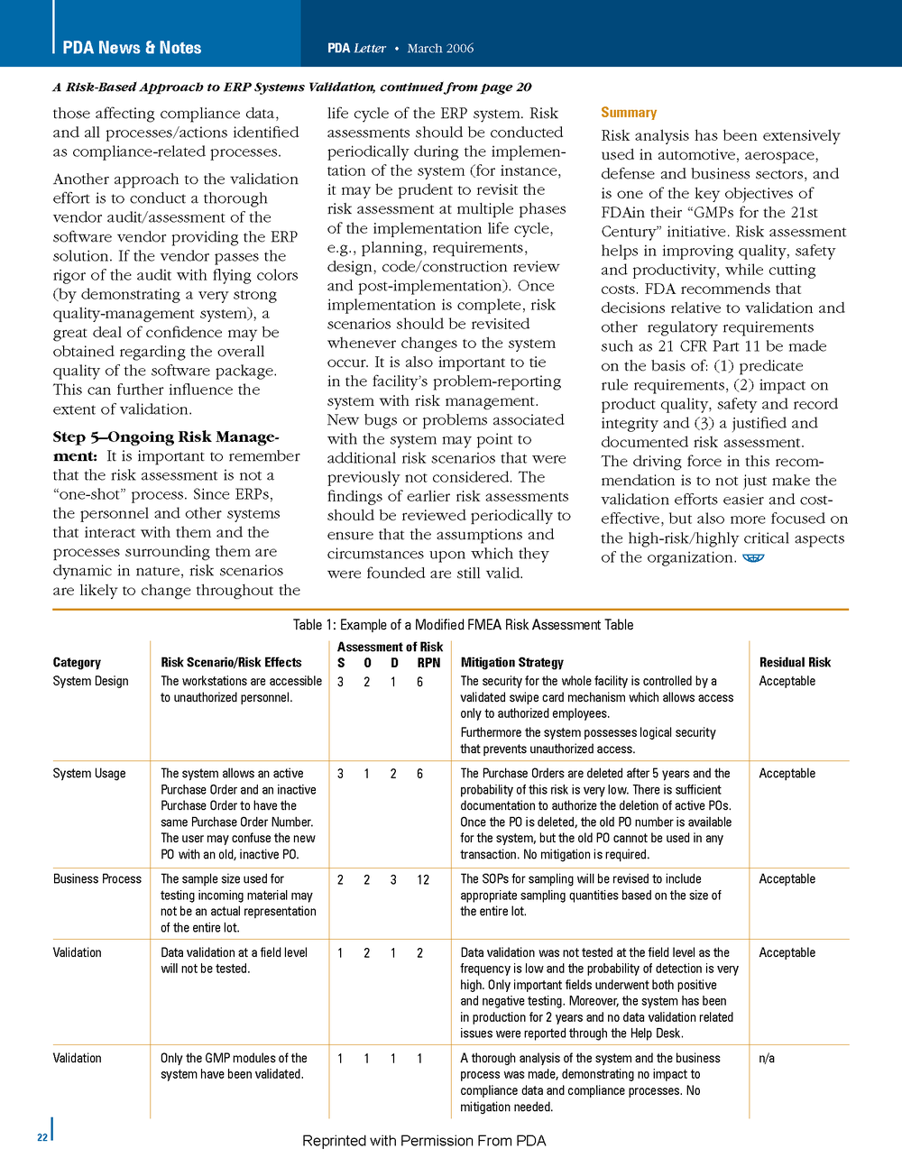 PDA Letter - ValiMation - ERP Validation - Risk Management Article_Page_4.png