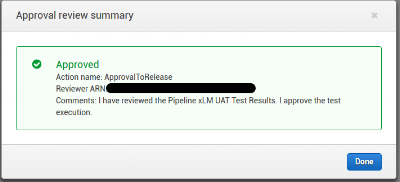 Figure 8 - QA Approval After Reviewing the Test Results