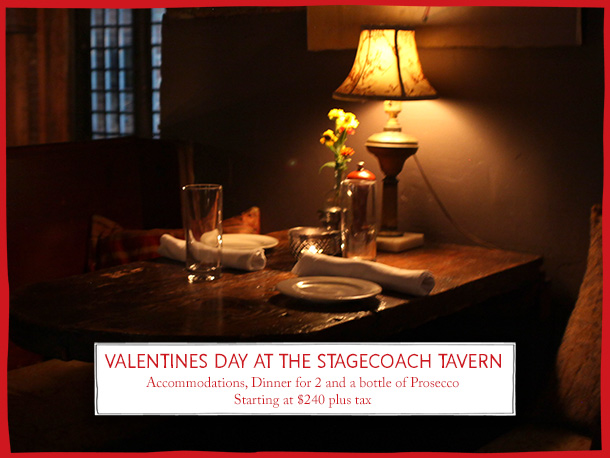 valentines day getaway at race brook the stagecoach tavern - Valentines Day Getaway