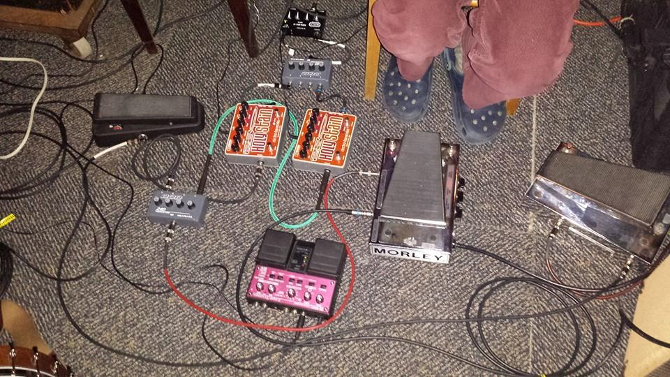John Snyder Performing - his analog rig at the last DCSC show.