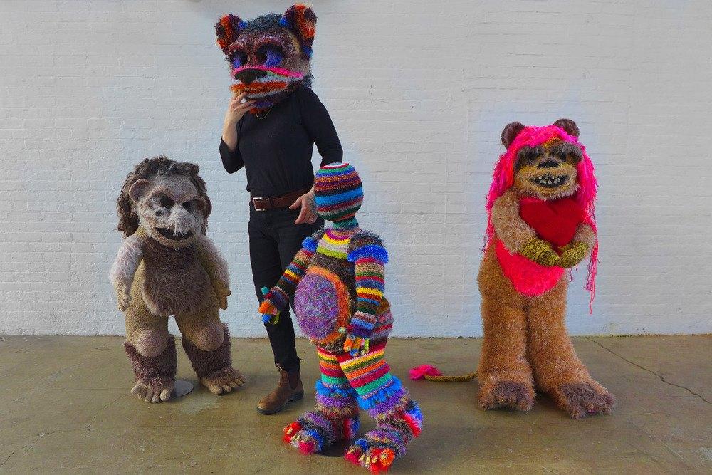crochet sculptures by Huck Elling