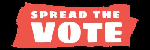 Spread the Vote's logo.