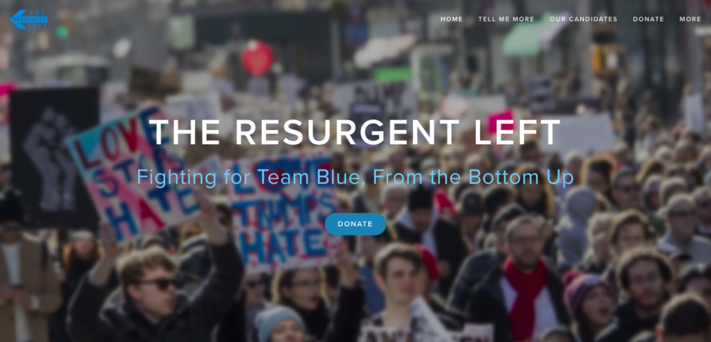 The Resurgent Left's homepage.