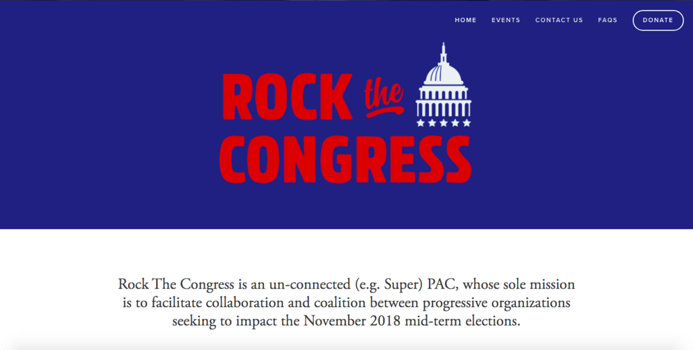 Rock the Congress's homepage.