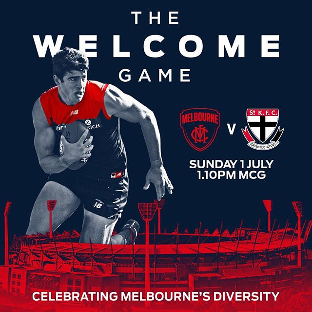 Grab your FREE ticket to the Welcome Game on Sunday 1 July. Link in bio. ❤️💙🌈