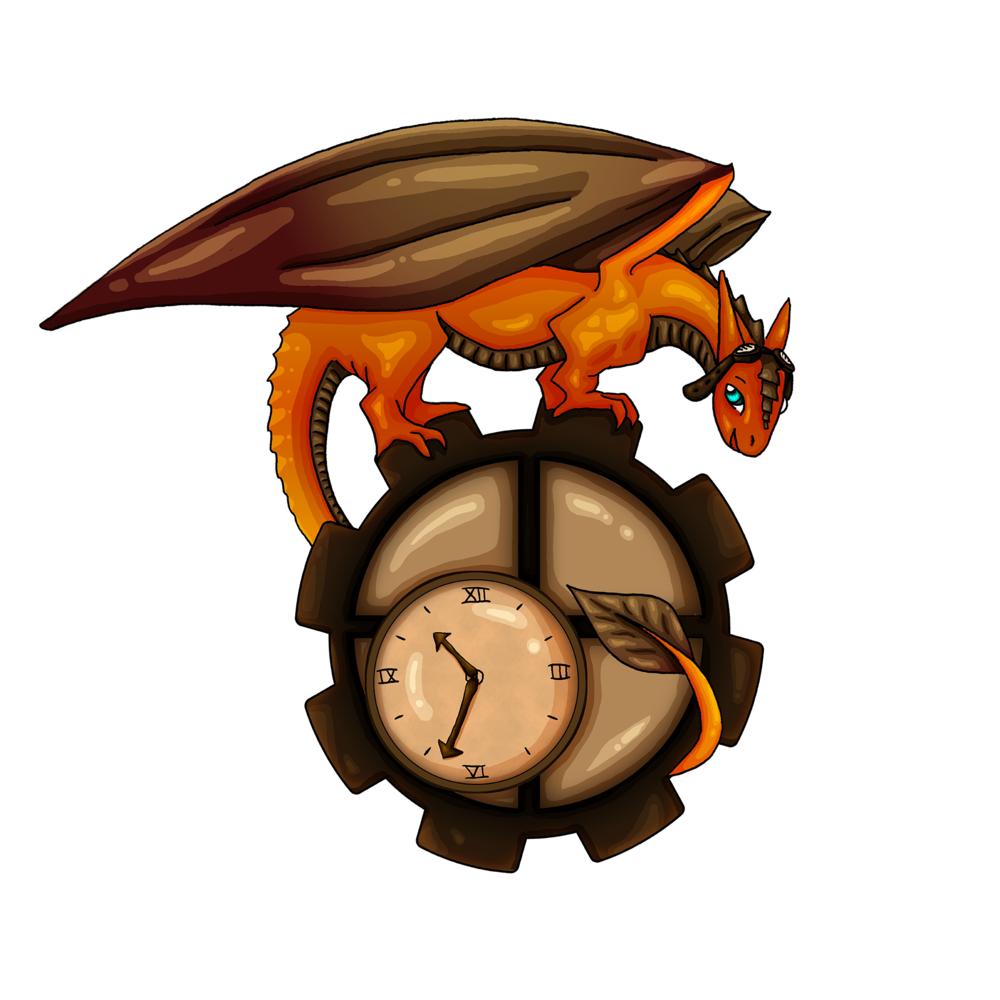"""""""Steampunk Dragon""""  Digital painting May 2014"""