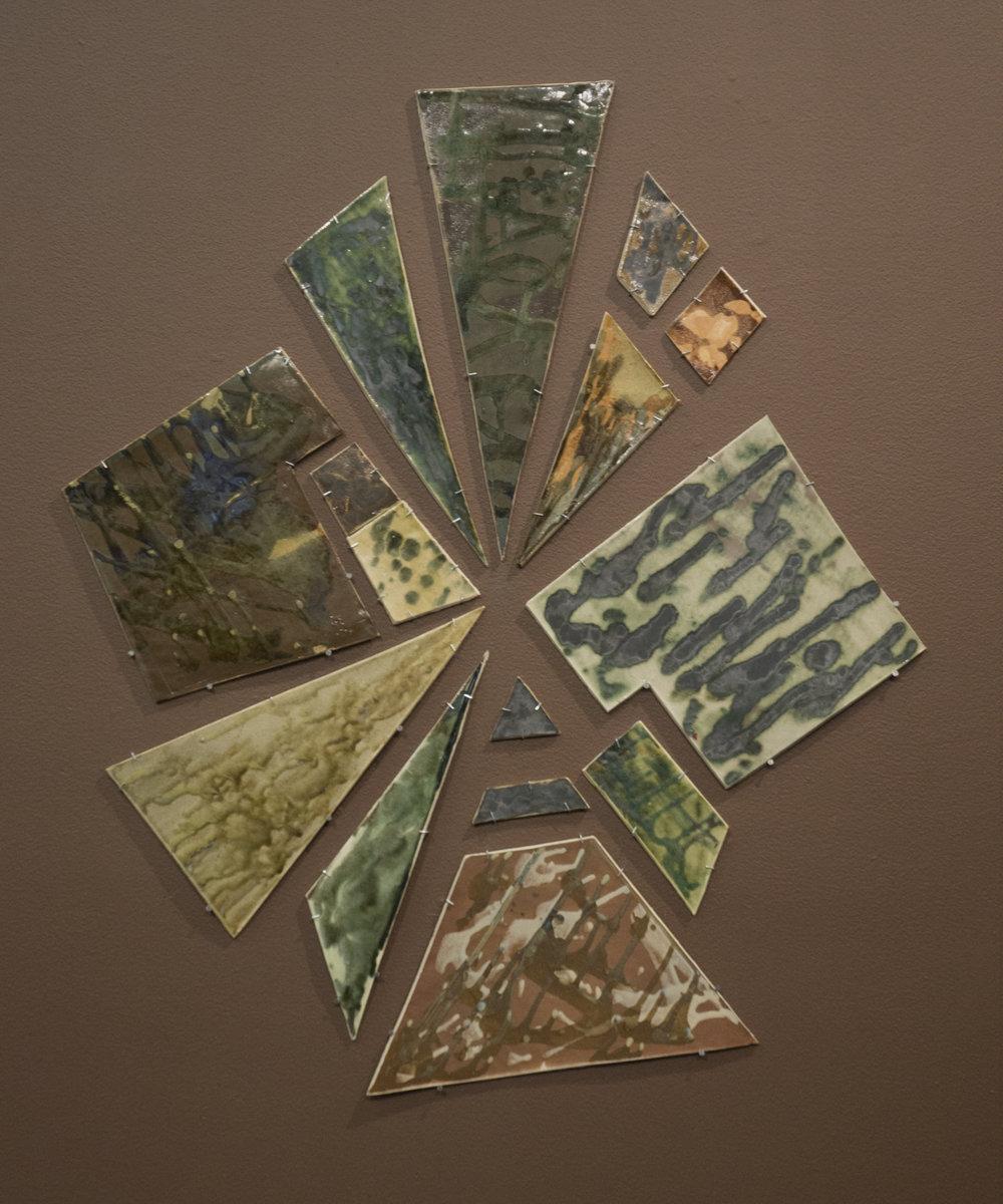 """Frame of Mind""  3'5"" x 3'5"" Ceramics  Representation of Earth"