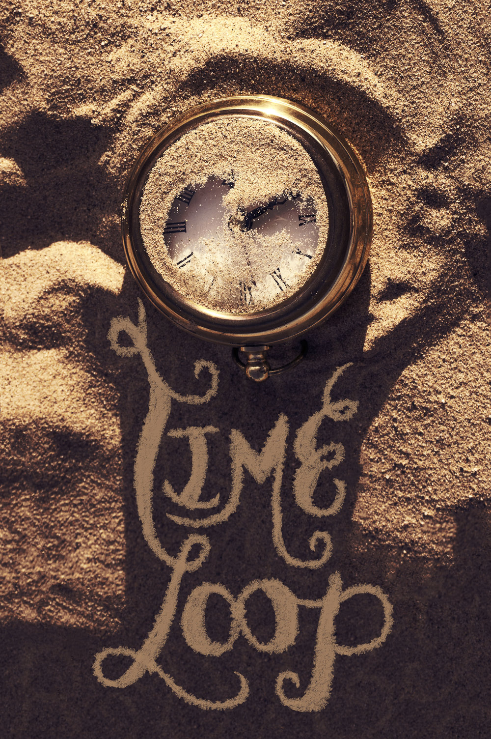 """Time Loop""  Photo edit and lettering April 2017"