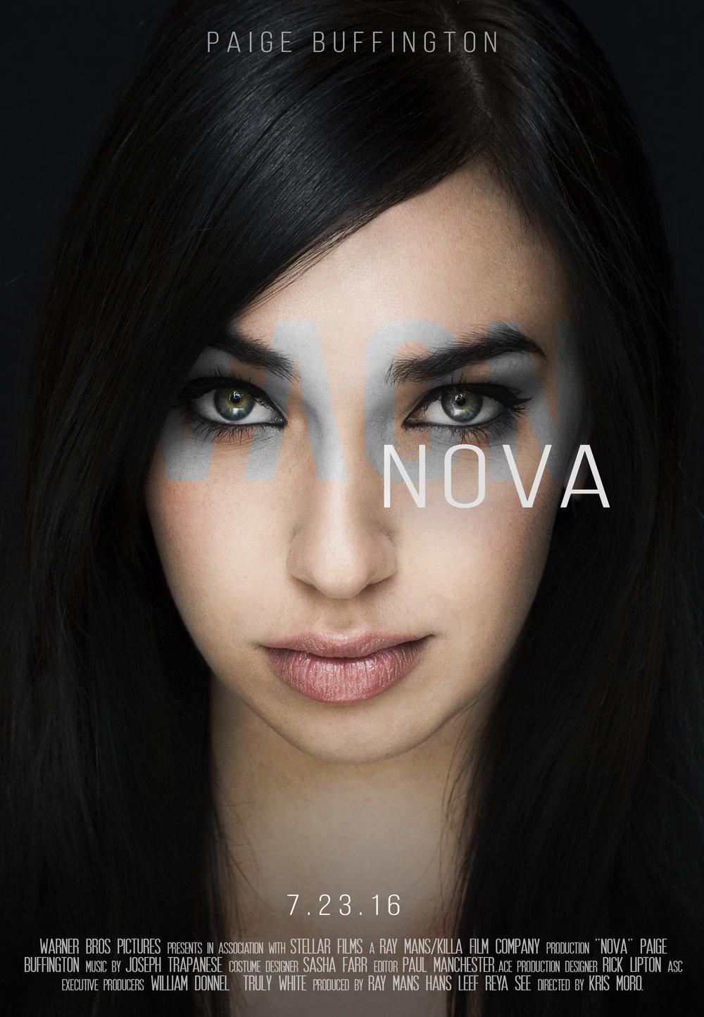 """Nova""  Mock movie poster inspired by the artwork for ""Salt"", photo self-taken March 2016"