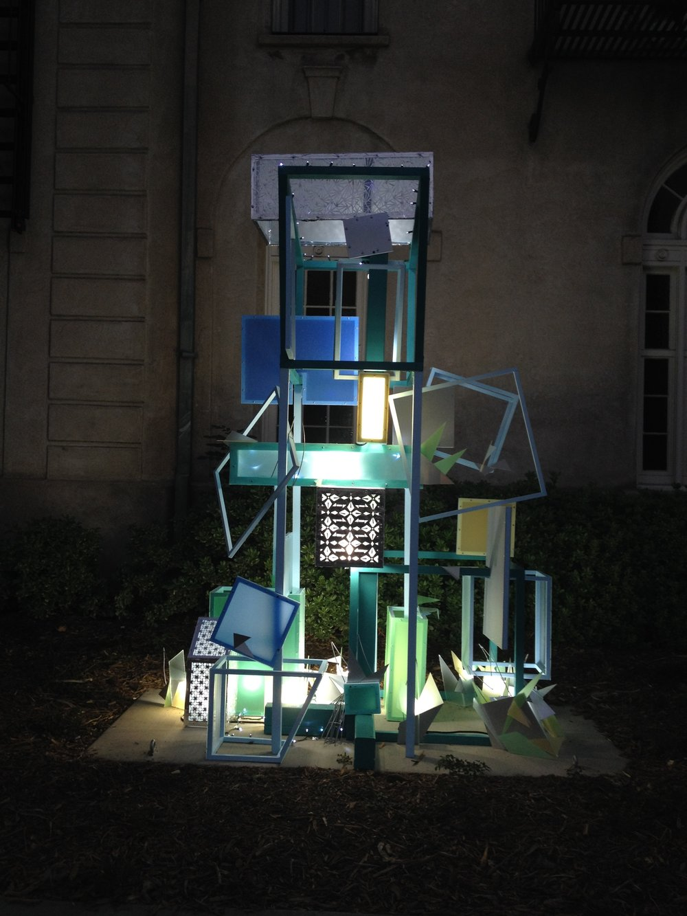 Group sculpture for the Festival of Lights in Riverside, CA December 2016