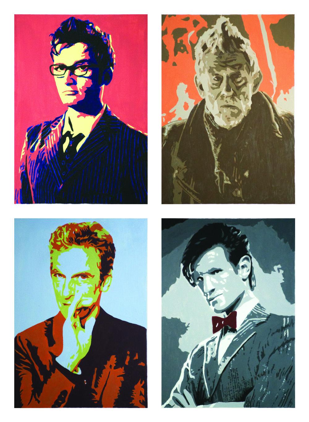 """Doctor Who?""  Acyrlic paint on Bristol Board February 2015"