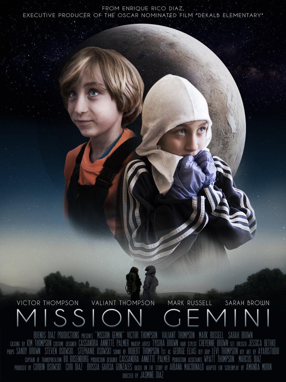 """Mission Gemini""  Movie poster for short action film June 2018"