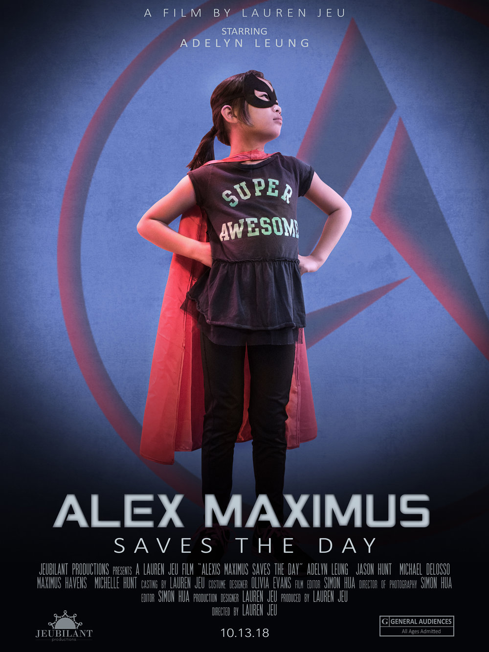 """""""Alex Maximus Saves the Day""""  Movie poster for short film August 2018"""