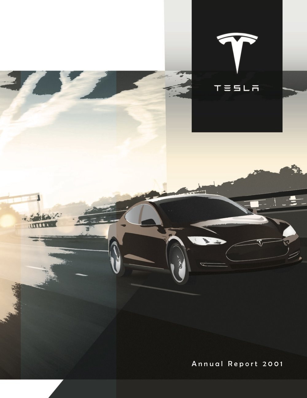 Mock annual report for Tesla - cover November 2014