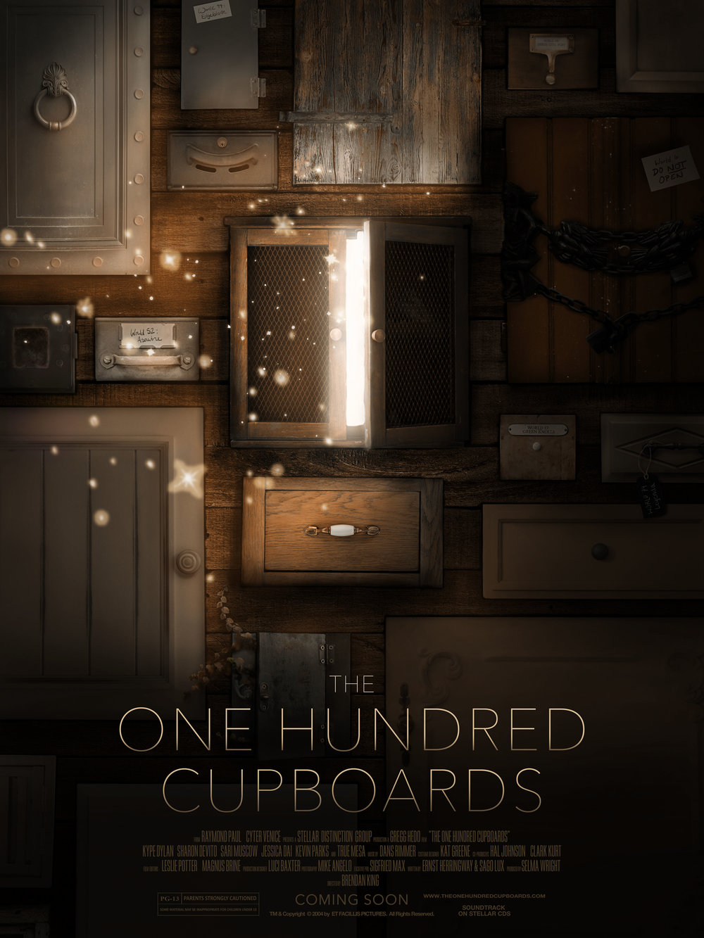 """""""The One Hundred Cupboards""""  Personal movie poster for gallery show September 2018"""