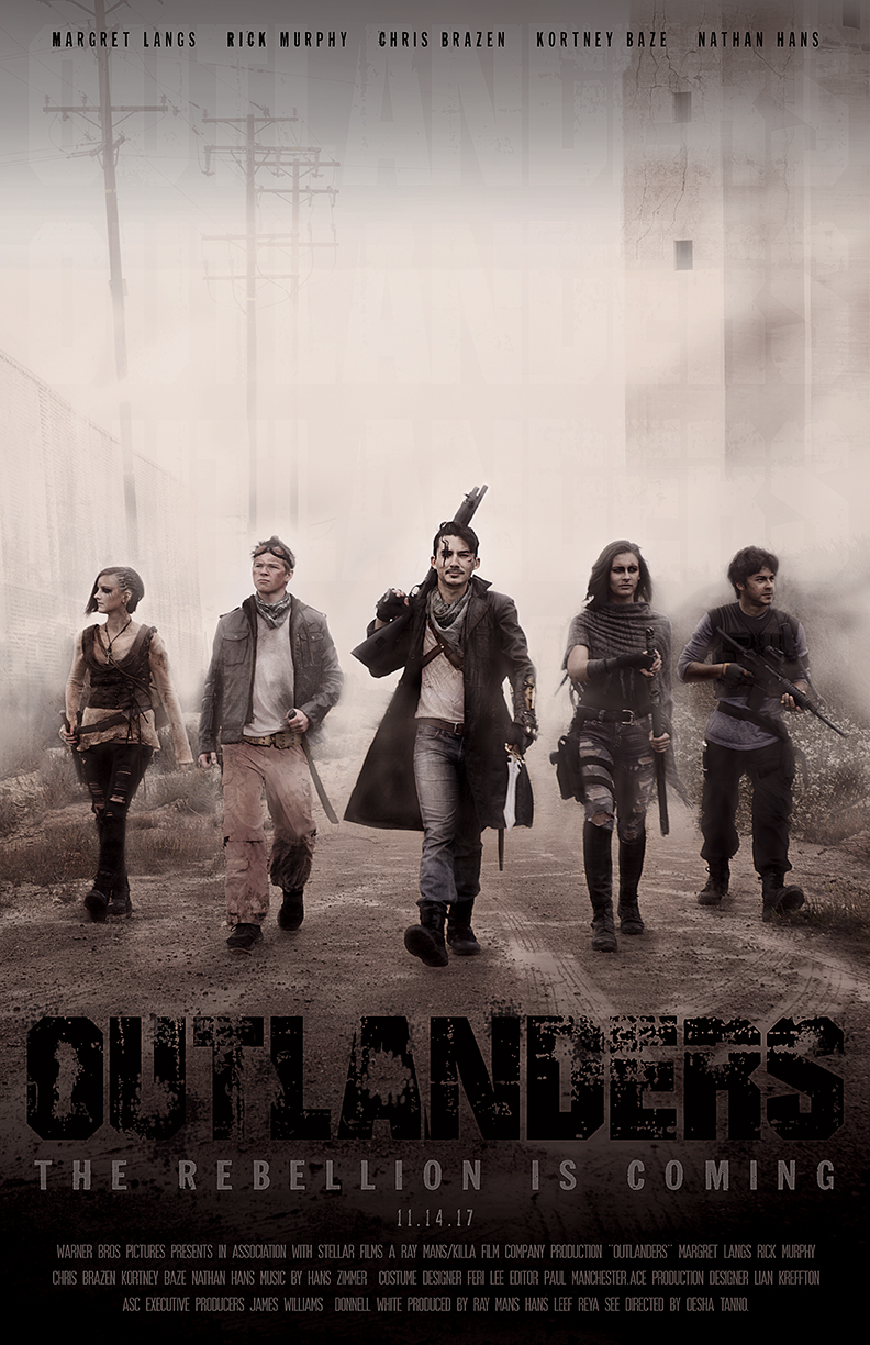 """""""Outlanders""""  Movie poster/photo composite using self-taken photos Placed silver in the American Advertising Awards 2017 December 2016  View the rest of the project on the Outlanders Project page"""