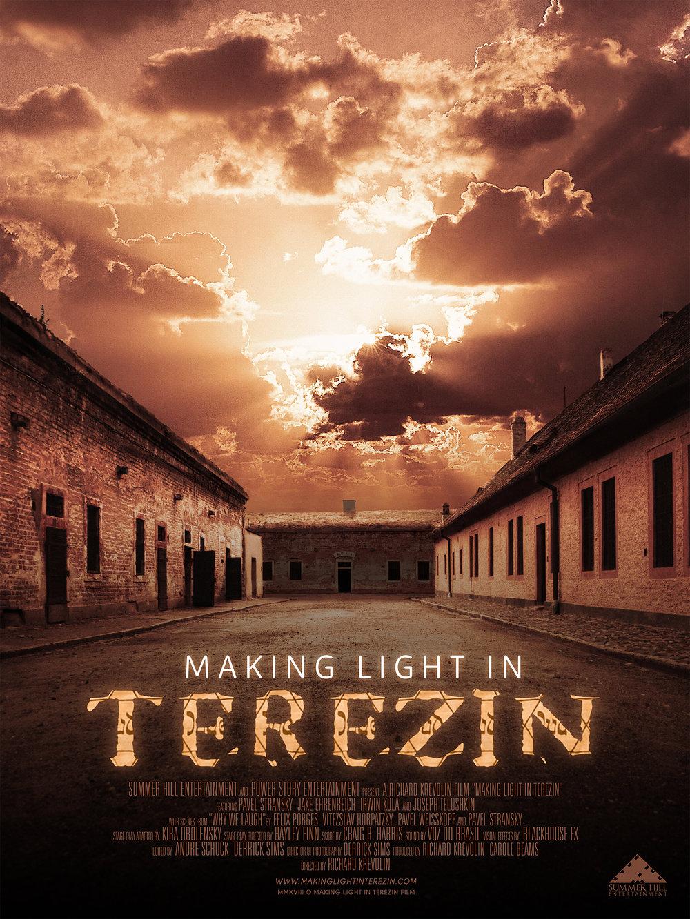 """""""Making Light in Terezin"""" Movie poster for documentary film  March 2019"""