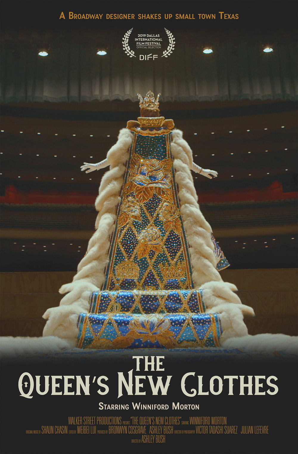 """""""The Queen's New Clothes"""" Movie poster for documentary film  March 2019"""