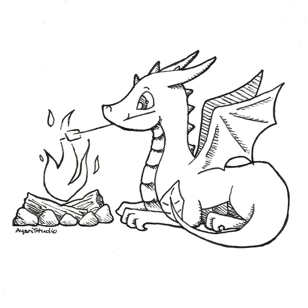 """Western Dragon""  Ink pen October 2018"