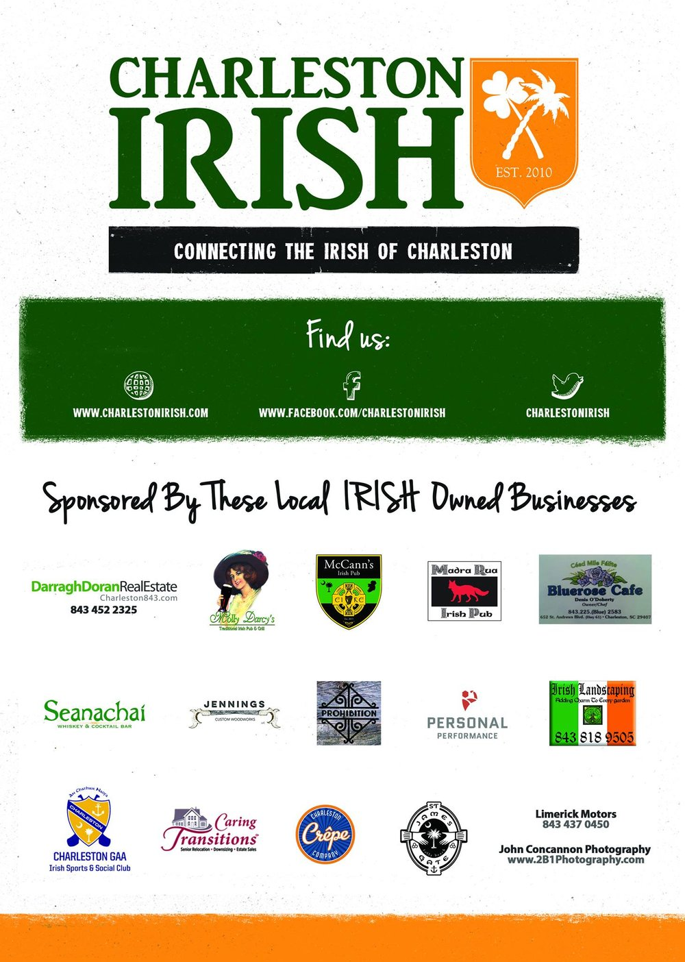 Charleston Irish Business Posters