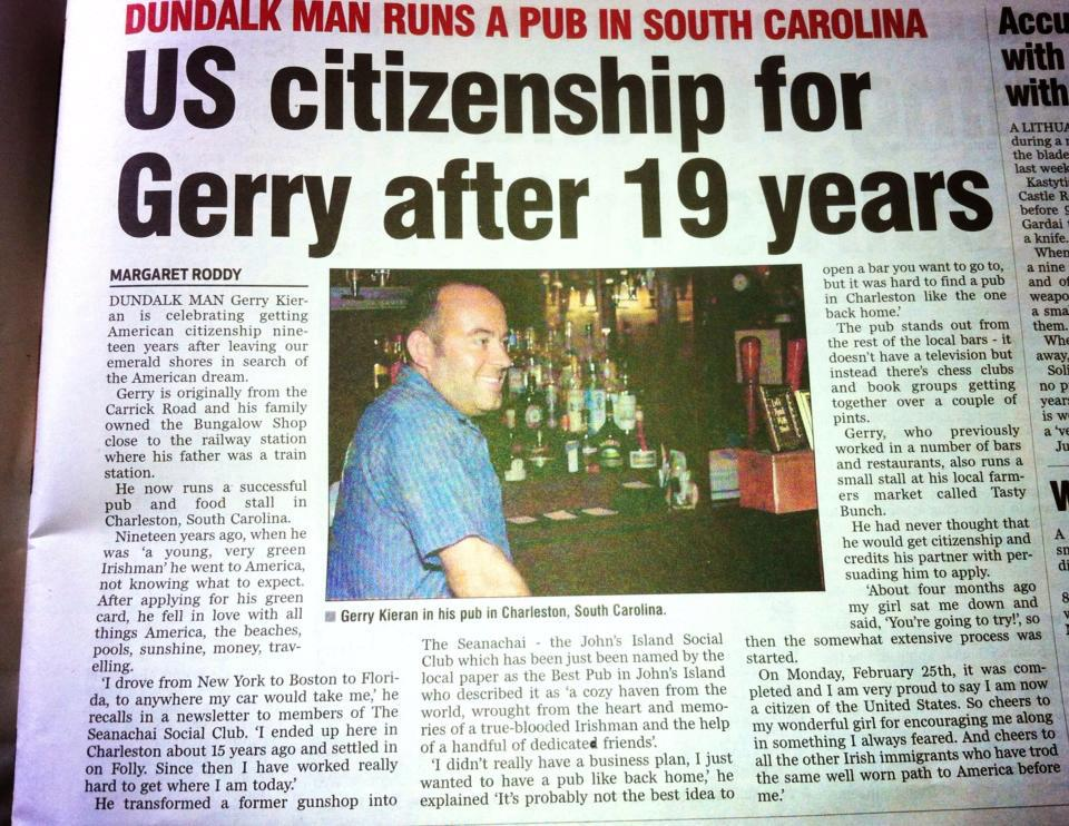 Gerry from Seanachai gets his passport