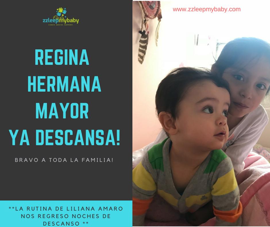 Regina 5 años ya duerme mejor y sola nuevamente  Mamá: Cynthia B  Jun-2018