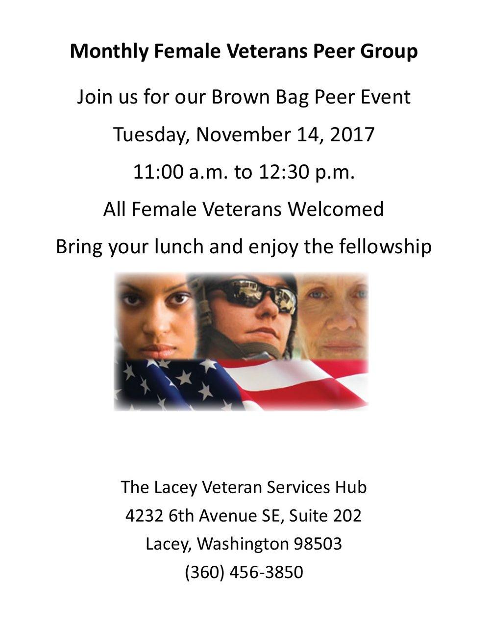 Female Veterans Peer Group Flyer November 2017.jpg