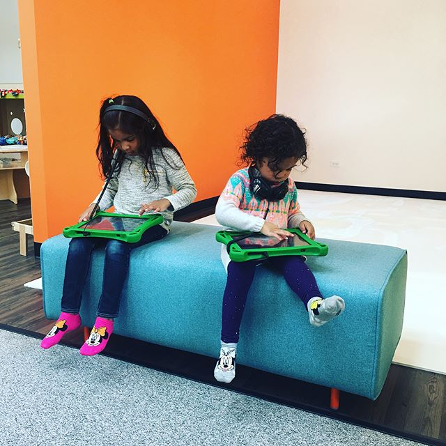 Check out the Hatch tablets! Educational games, books, puzzles and more! #weorbit #downtownhighlandpark #funforkids #indoorplayground #family #hatchtablet #highlandparkil