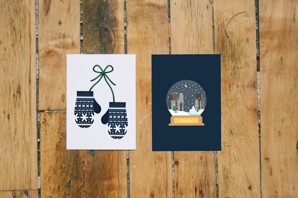 The 2018 holiday cards featured in the holiday collection.