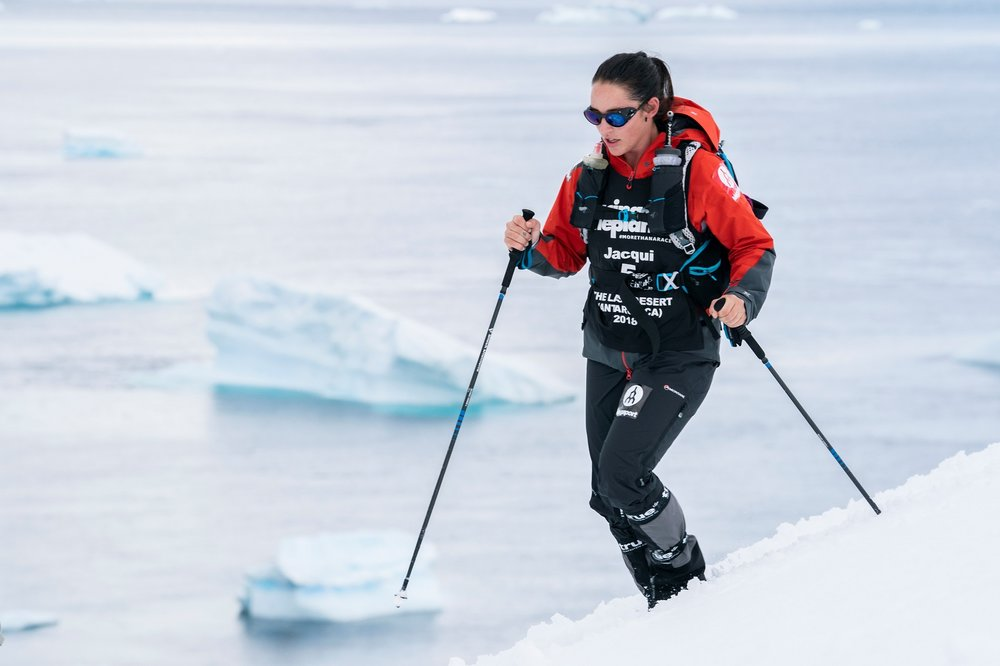 Photo credit: Thiago diz. Racing in Antarctica saw Australian Jacqui Bell knock off her fourth continent in her bid to become the youngest person in history to run an ultra-marathon on every continent in the world.