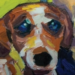 Max, as painted by our very own Jocelyn VanWynsberghe. Check out some of her other work here:  http://www.jvanwynsberghe.com/