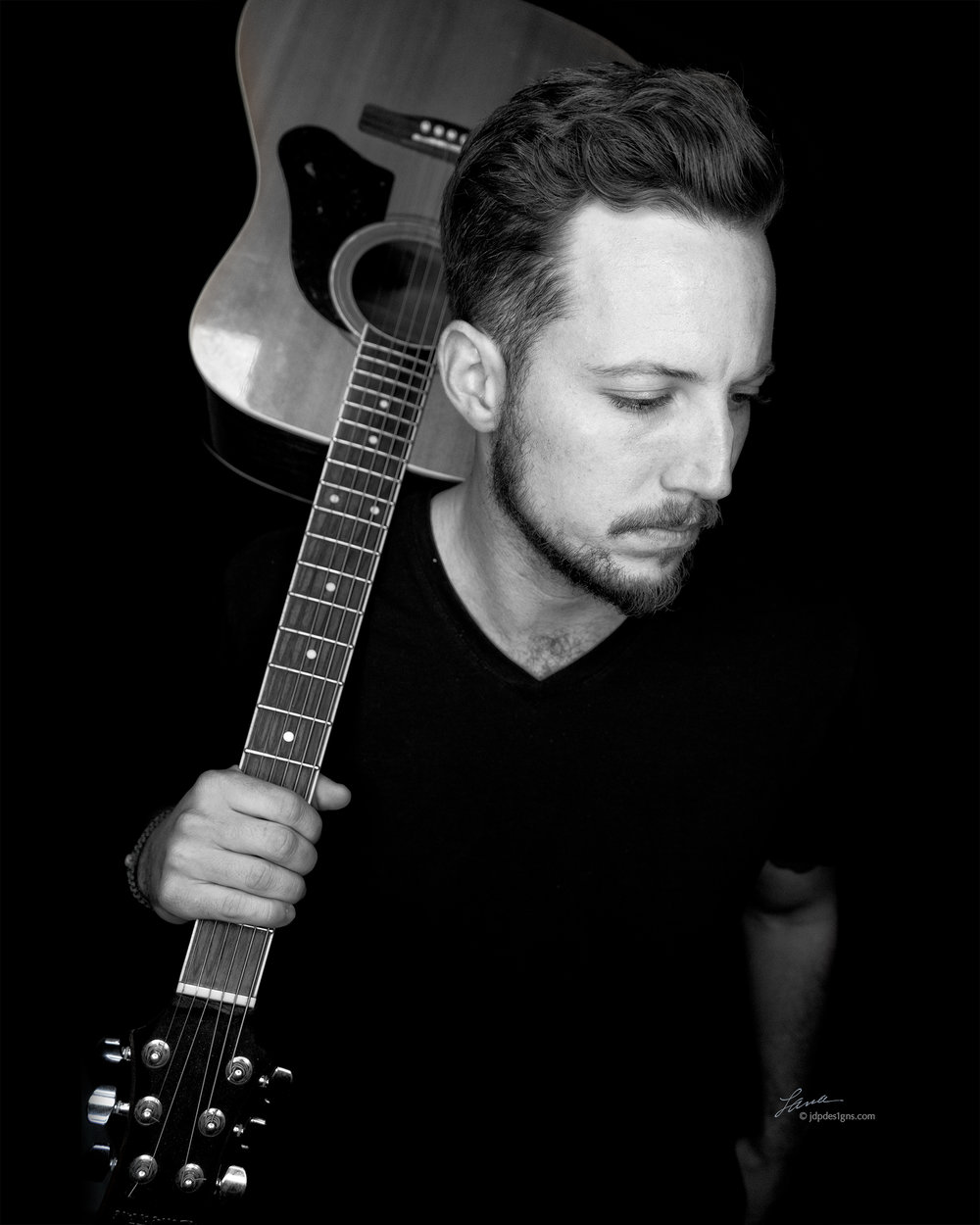 Jake Guitar 1 bw.jpg