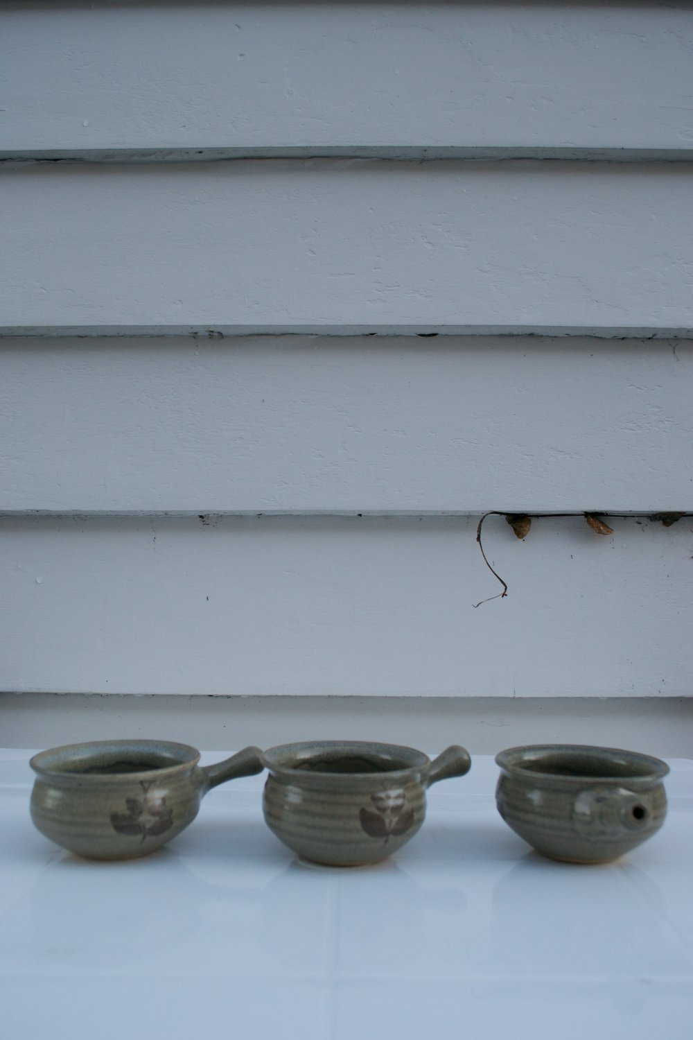 ceramic bowls with handles x3 $1 each