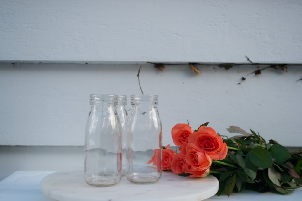 milk bottles x20 $1 each