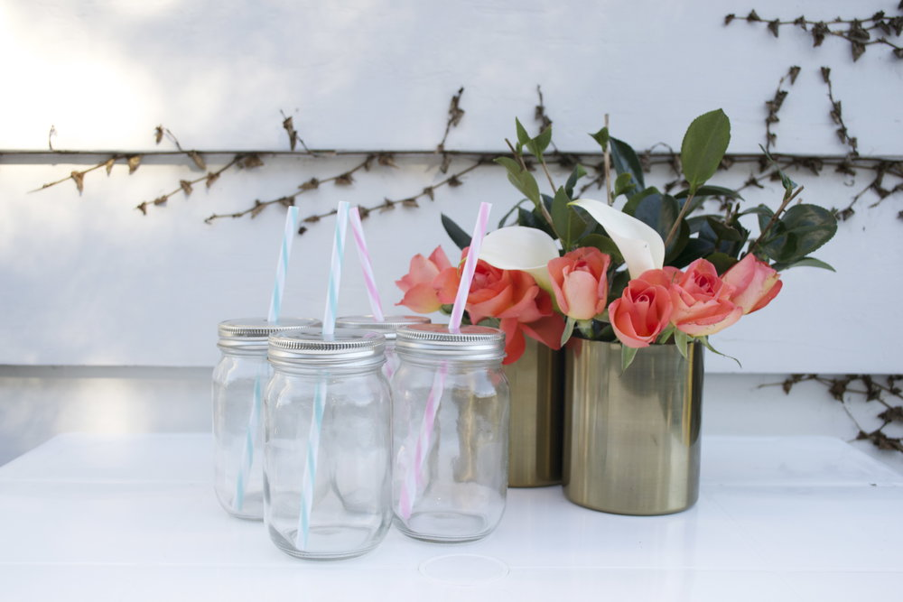 mason jars with lids x4 $1 each