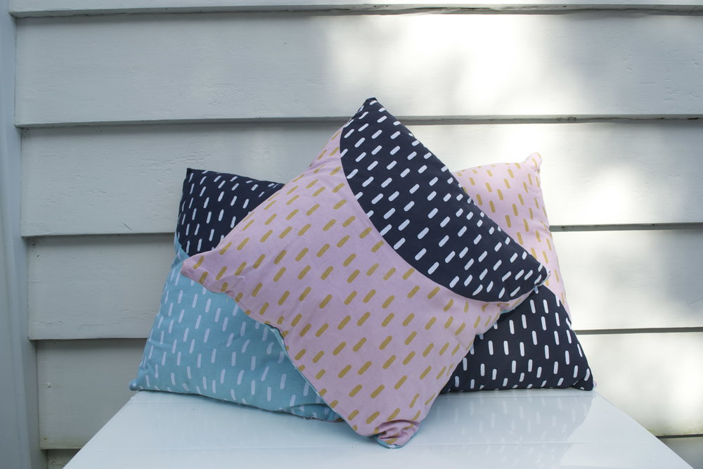 sprinkle patterned cushion x3 $3 each