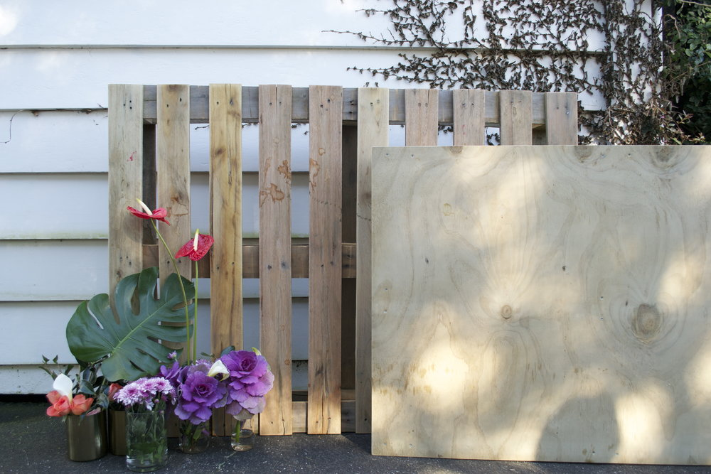 sanded wooden pallets x2 $20 each