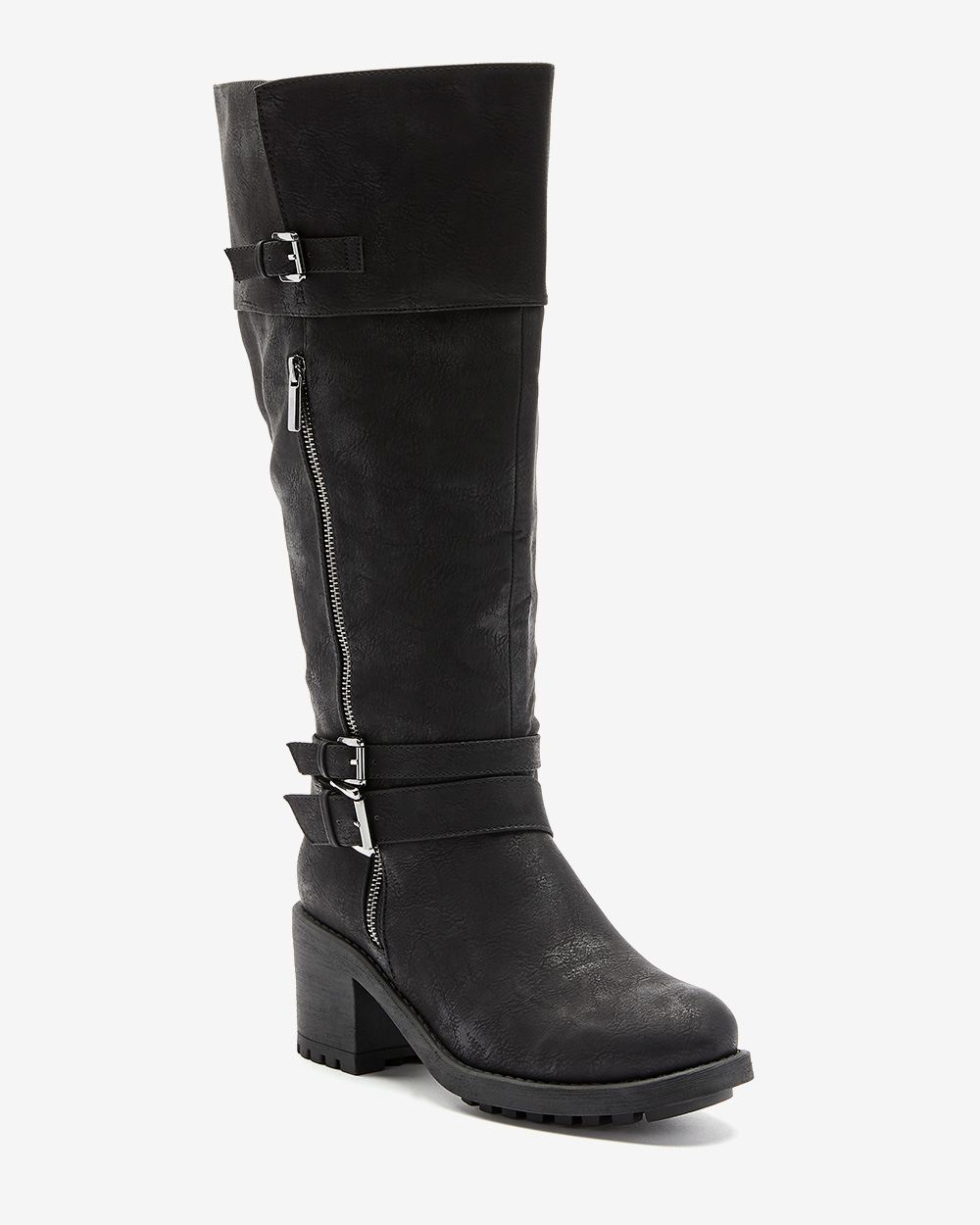 Over-the-Knee Boots with Strap Details - Addition Elle ($139 CAD)
