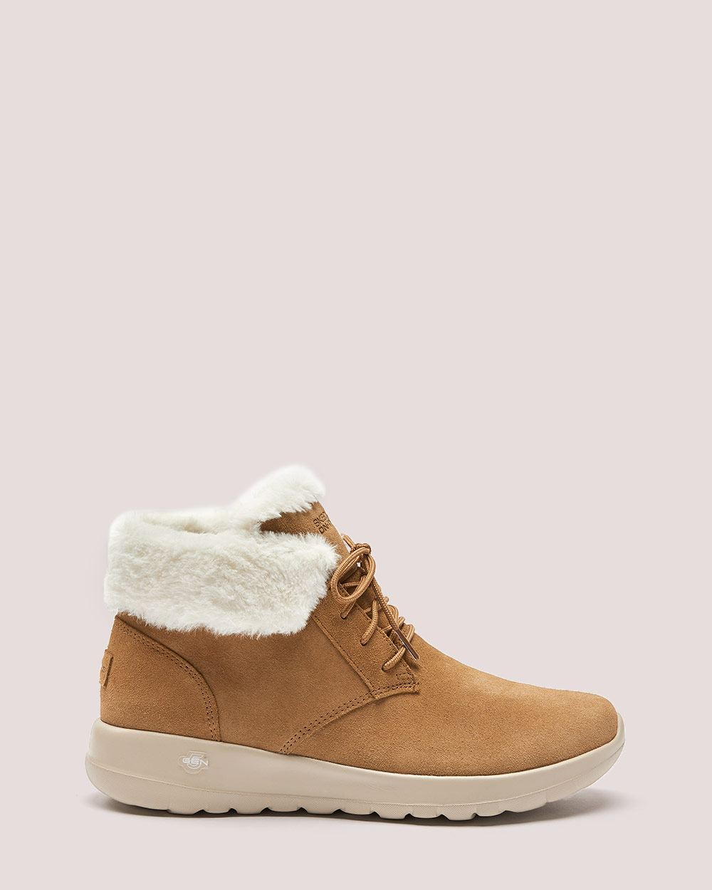 Wide Width Lace-Up Bootie with Faux-Fur - Sketchers ($95 CAD)