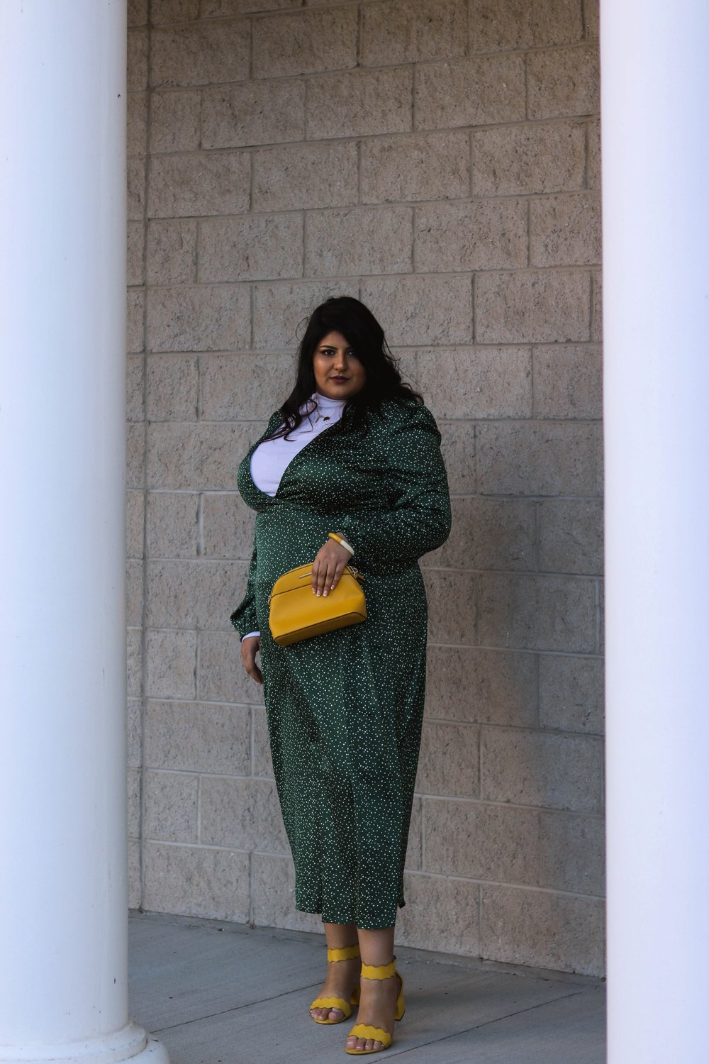 addition elle wide fit shoes boohoo plus size dress- Sara Sohail (The Prep Gal)
