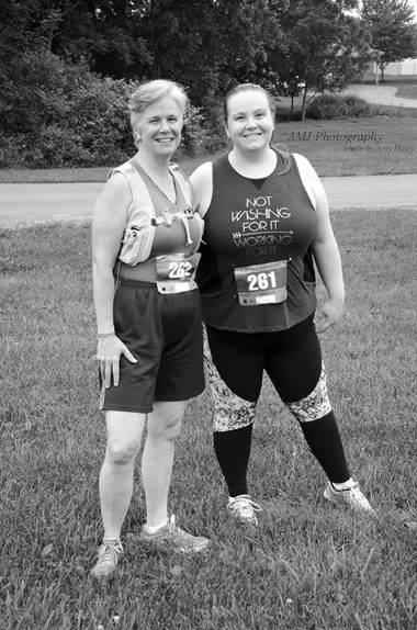 My mom, Sharon, and I at our first 5k!